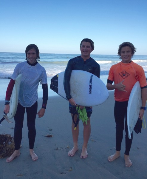 Ethan Cairns, Jett North and Liam McCue