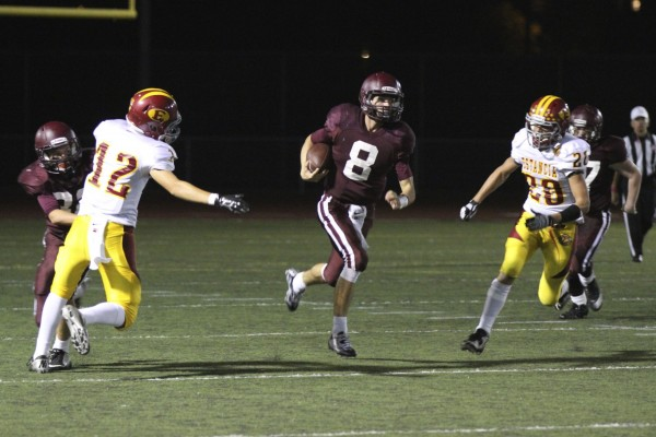 Jack Simon ranks fifth in school history with career total offense at 3,799 yards, surpassing Drake Martinez (3,533 yards 2010-12.) Photo by Dante Fornaro.