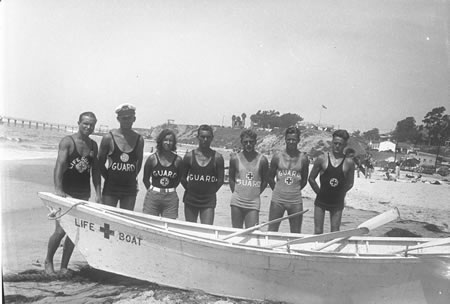 A '30s era sample of Weisser's photos documenting local lifeguard history.