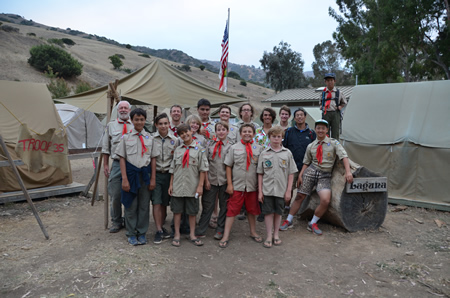 Troop 35 at a camp on Catalina Island.