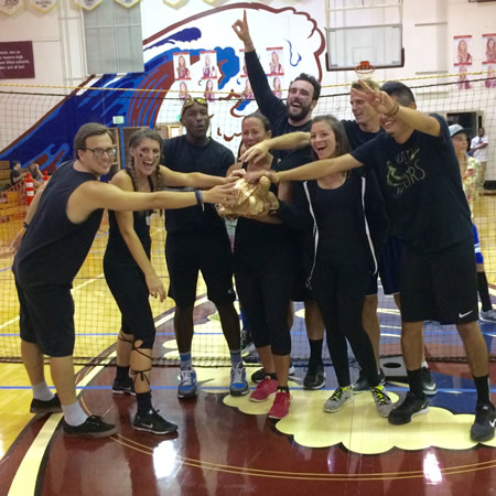 Defending champions, El Morro teachers won the adult division.