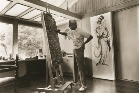 Theodor Seuss Geisel at his easel