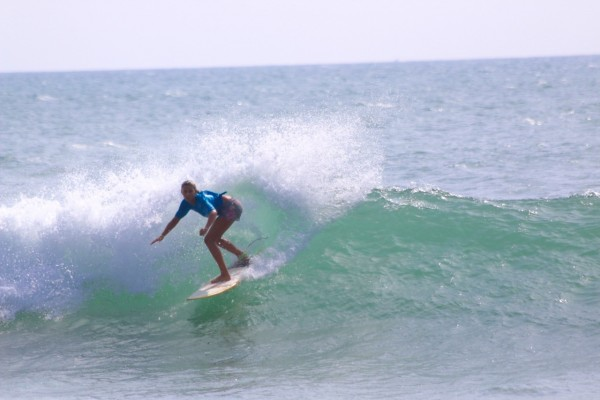 Tess Booth on shortboard.