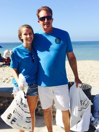 Volunteers during last month's clean up.