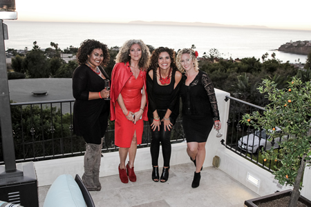From left, Ariana Matthews, Lorraine Massey, Vickie Vela-Cambruzzi and Lauren Cortez.