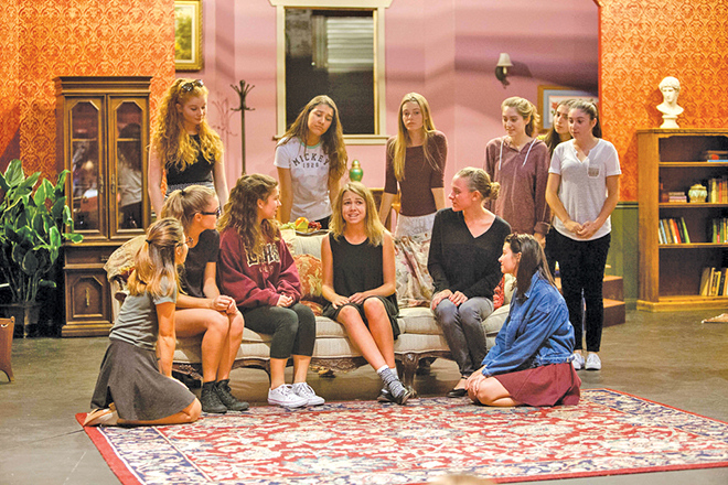 Photo by Johanna Ellis In a scene from u201cStage Dooru201d cast members from & Laguna Beach Local News Curtain Rises on Double Bill of Youth ...