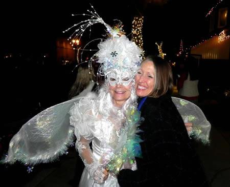 Jessica deStefano, aka the wish faerie, with Deb Conroy.