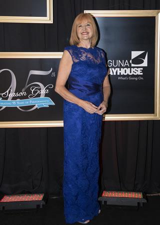 Playhouse Executive Director Karen Wood attends the recent fundraising gala.