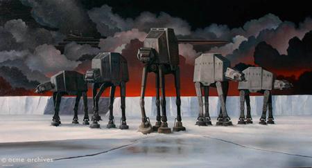 "Cliff Wassman resurrects his art work from ""Star Wars."""