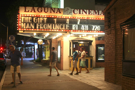 Patrons emerge in September from one of the final showings at South Coast Cinema.