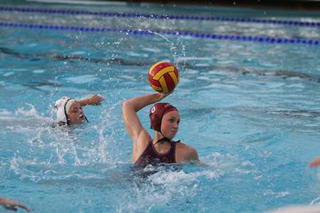 UC Santa Barbara-bound Natalie Selin in a match this week against Edison of San Antonio, Tex. Photo by Dante Fornaro.