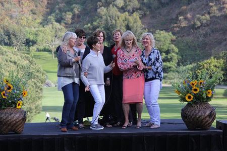 Hundreds gathered in May to pay tribute to Kathleen Blackburn's civic accomplishments, character and athleticism. Less well known was Blackburn's love for pop lyrics, but friends, from left, Judy Blossom, Gay Sutherland, Carol Ann Berryman, Karen Gilbert, Shirley Torrance, Diana Gairdner and Jeanne Jones, provided a soundtrack. Blackburn, 71, who served Laguna Beach from 1992-00 on the City Council and Planning Commission, including two terms as mayor, died March 16.