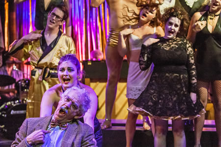 "No Square Theater in July revives the cult classic, ""The Rocky Horror Show."" Photo by Mitch Ridder."