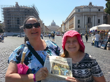 Robin and Mary Jeanne Walker traveled 6,300 miles to visit the Vatican in Rome this summer. John Walker was behind the camera.
