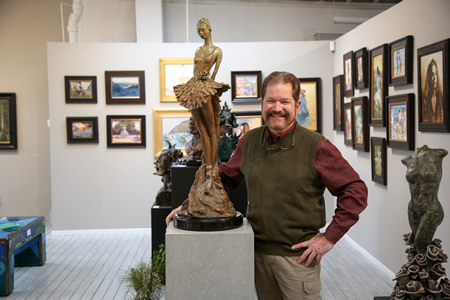 Ocean & Forest Gallery owner Ludo Lederitz keeps his doors open with an innovative approach to gallery management. Photo by Jody Tiongco.