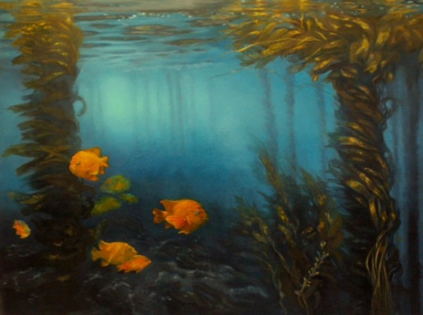 "Dana Lewis' ""Kelp Forest"" is part of a new City Hall exhibit."