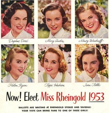A 1953 era ballot for Rheingold beauties.