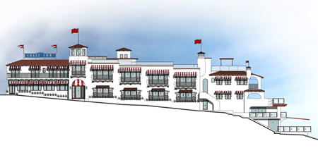 Development plans for Coast Inn harken back to the early 1920s style.Photo courtesy of Marchall Ininns