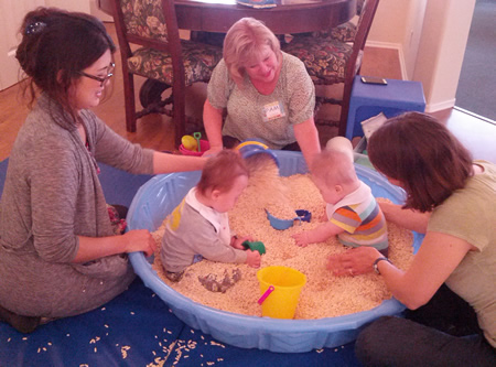 Babies with developmental delays receive special attention through the Assistance League's programs.