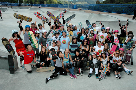 Participants in 2011's Mother's Day skate fest Photo by Chuck Hults.