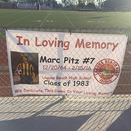 The banner displayed at the soccer playoff contest Feb. 16 was coordinated thanks to the Kruger Family.