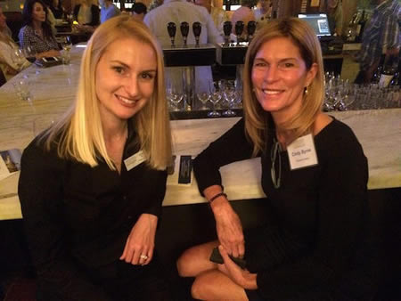 Nicole Toft and Cindy Byrne attend a Community Foundation get-together.