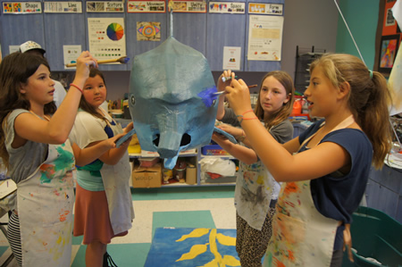 The club serves as an art outlet for members, from left, Nicole Elia, Alyssa Decker, Jaxon Donahue and Sofia Marriner.