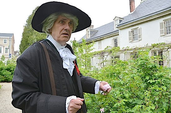 Kirk Brown assumes the role of early botanist John Bartram.