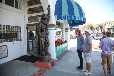 "Renewed interest in Laguna Beach's history of greeters stems from the newly released film ""Greeter Documentary."" Photo by Jody Tiongco"