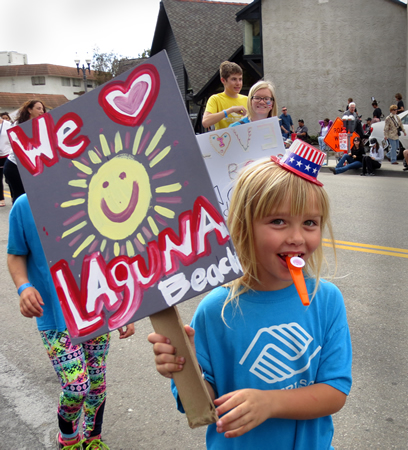Laguna Beach Boys and Girls Club member shows her love for Laguna.