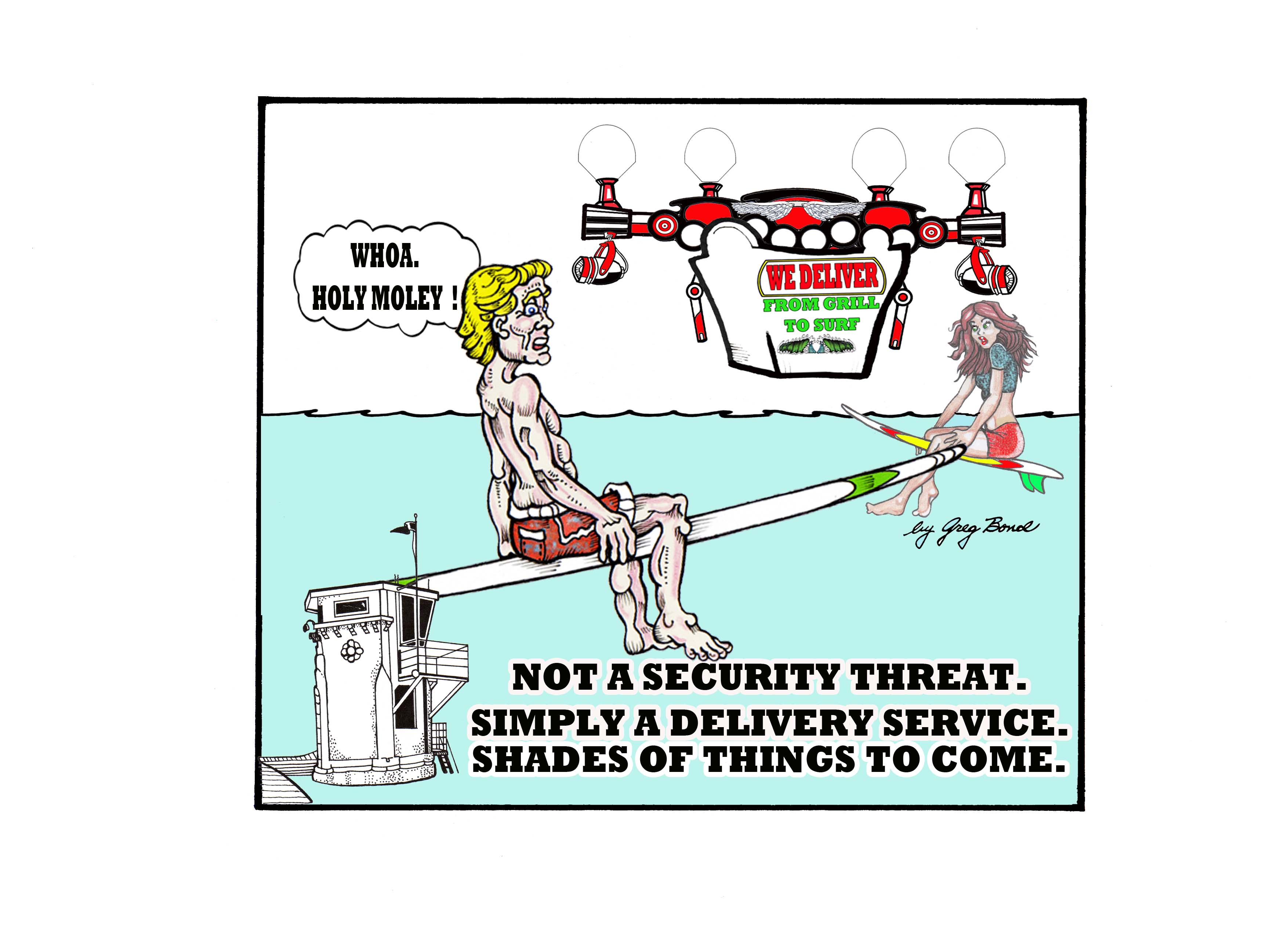 web only DRONE DELIVERY CARTOON