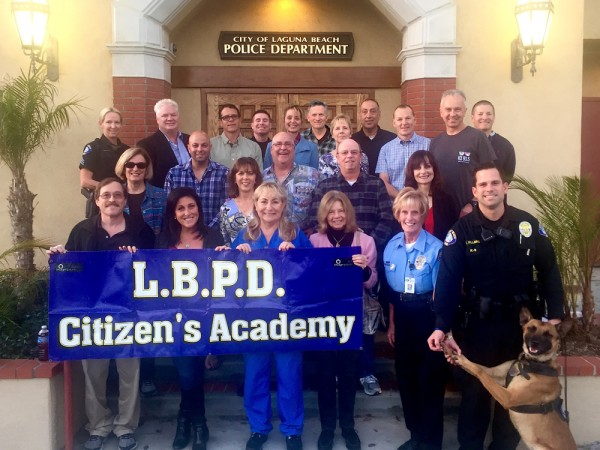 The newest graduates of the police department's Citizen Academy.