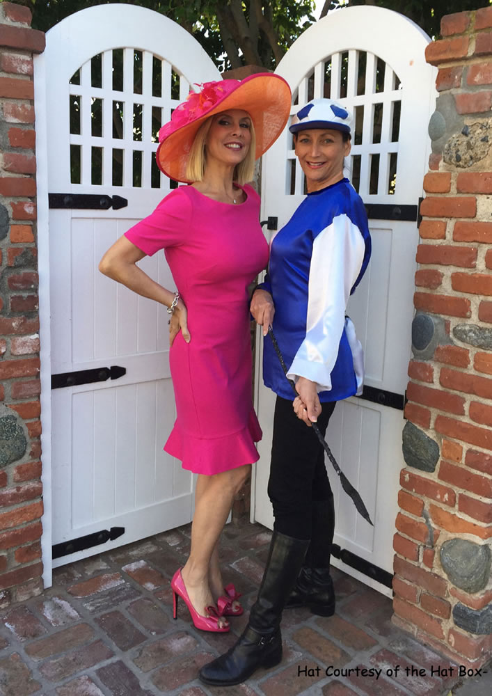 Ebell members Cat Aires, left, and Fabiola Kinder ready for derby fun!