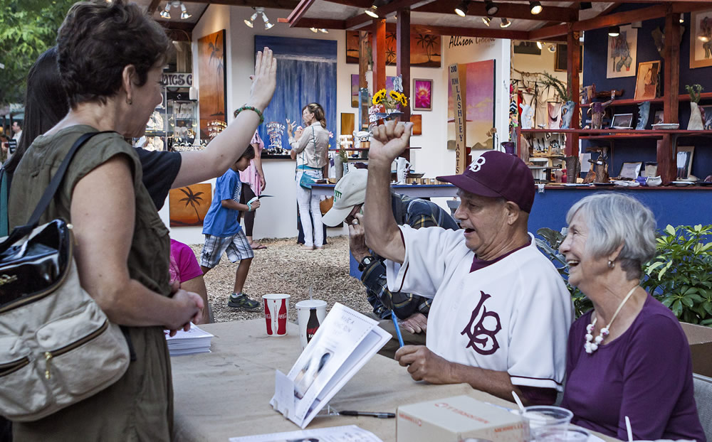 Skipper Carrillo greets fans at a 2014 book signing event. Photo by Mitch Ridder