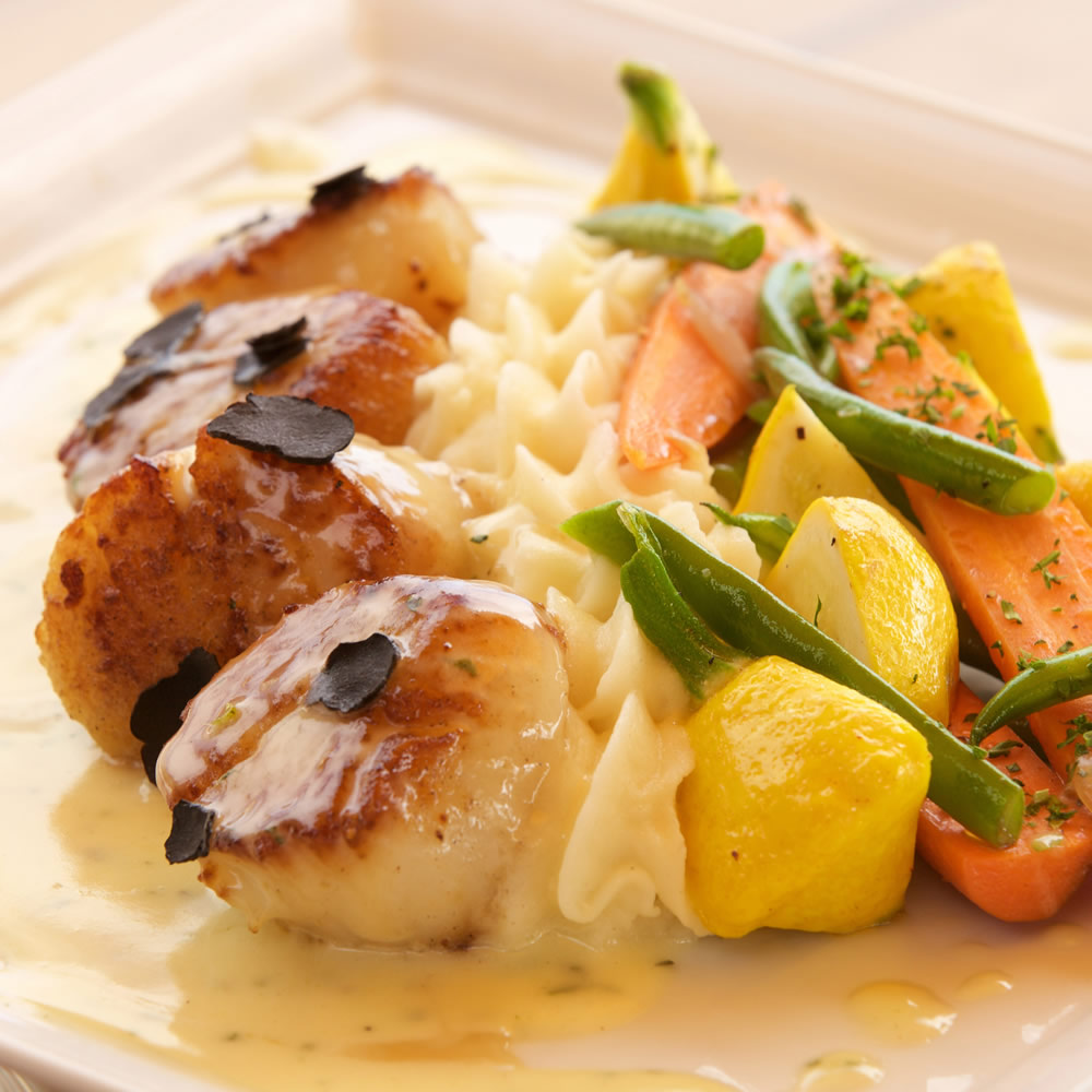 A scallops dish available at Hotel Laguna for Mother's Day.