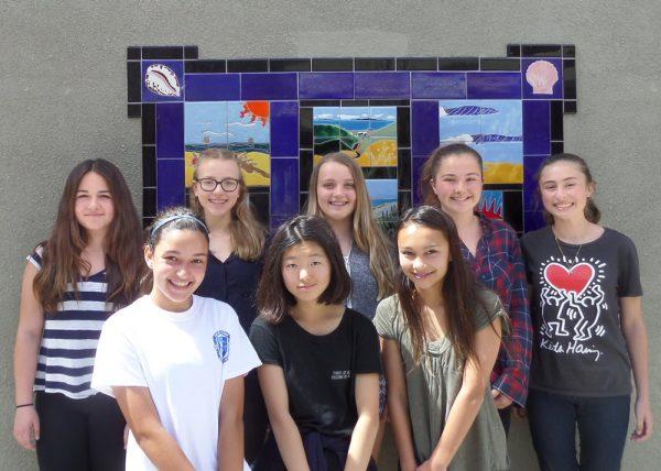 From left, top, Sophia Ravenna, Sophia Lander, Chloe Gabora and Sydney Eckberg-Rogers; front, Leah West, Stella Rhee and Liela Andringa; not pictured, Maya Gallego.