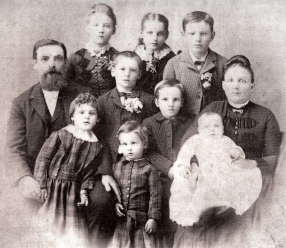 The Rogers family in the 1880s.