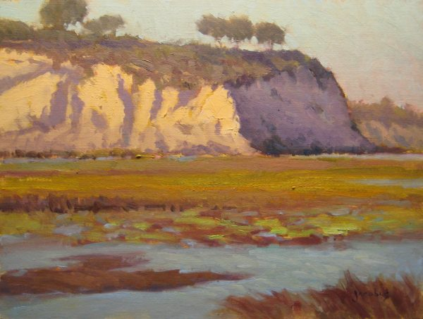 """A sample from the show, """"Back Bay Cliffs,"""" captures a Newport Beach favorite."""