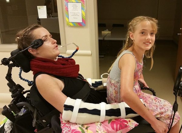 Friends are organizing a fundraiser for recently paralyzed Chelsea Rush, seen her with her sister Gabriella. Photo by Shannon Brown.