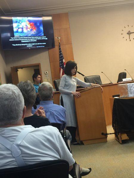 Local resident and panel organizer Rita Conn.