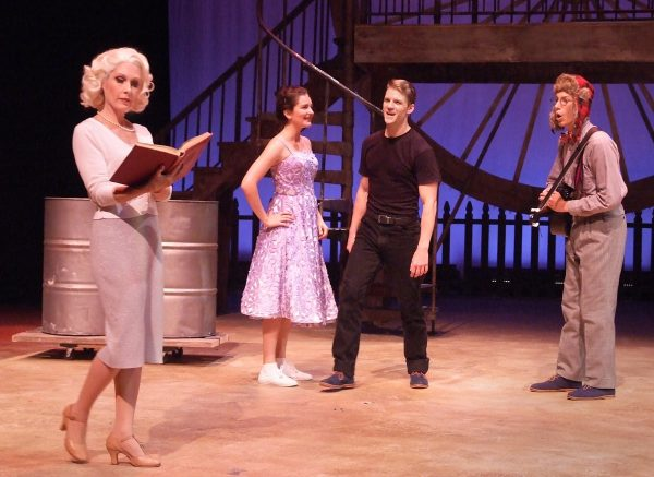 """Love-struck characters end up with unexpected partners in """"All Shook Up"""" at Laguna Playhouse."""