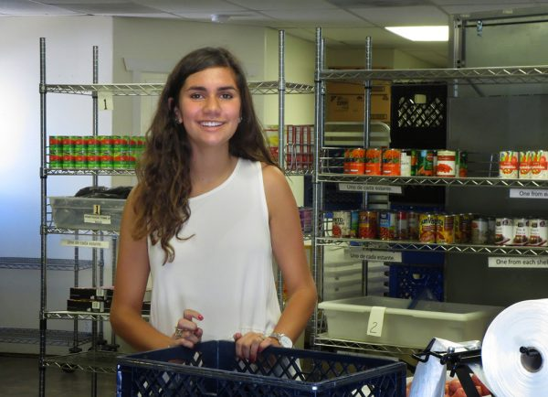 Laguna Food Pantry volunteer and high school student Samantha Berk was elected an honorary board member of the organization. Photo by Marilynn Young.