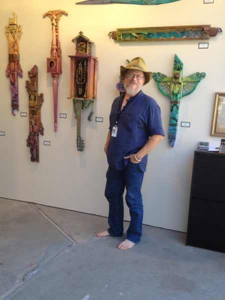 2)Brian Giberson surrounded by his totems