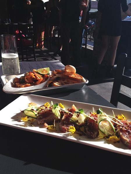 A sample of the new fare at Laguna Beach Brewing and Grille