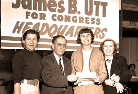 Congressman James B. Utt on the campaign trail.
