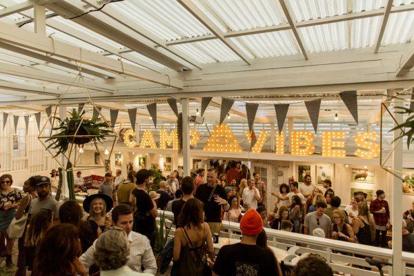 A crowd jams the recent opening of Poler Outdoor Stuff's Laguna Beach store.