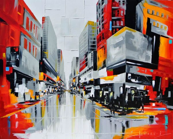 Urban cubist Joëlle Blouin will show her urban cityscapes inspired by Quebec and New York at Signature Gallery in September.