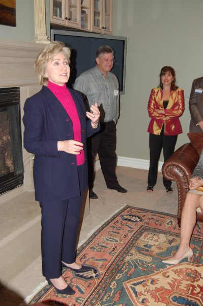 Hillary Clinton visits Laguna Beach in 2007 at the home of Stevan and Rona Gromet.