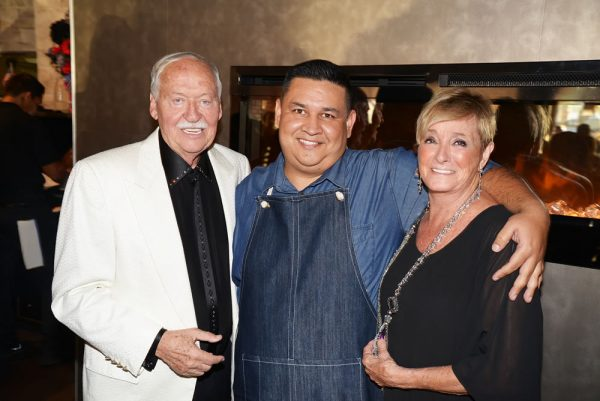 New owners of Laguna Beach Brewing and Grille Jim and Kathy Smith and their chef, Memo Sandoval.