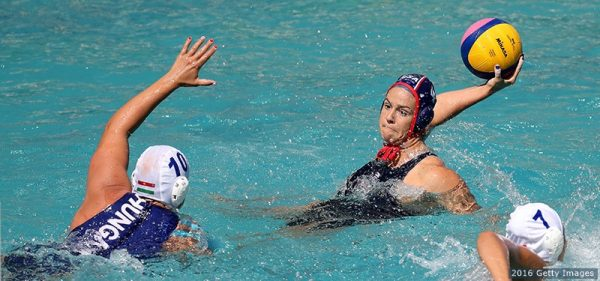 Team USA player Rachel Fattel takes aim against Hungary in a match played last week. Photo by Getty Images